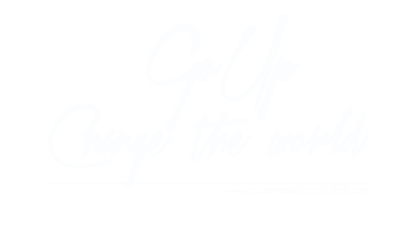 Logotipo Go Up Change the world marketing digital