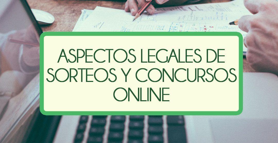 Cuestiones legales de sorteos y concursos.